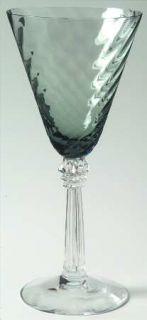 Fostoria Pavilion Smoke Gray Wine Glass   Stem #6143, Smoke Gray, Swirl Optic