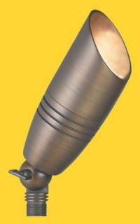 Corona Lighting CL525BBR 50W Low Voltage Brass Bullet Directional Light w/Easy Turn amp; Lock Shroud Natural Brass