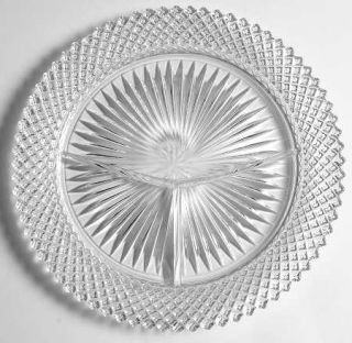 Anchor Hocking Miss America Clear Grill Plate   Clear, Depression Glass
