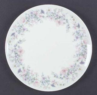 Wedgwood Angela Dinner Plate, Fine China Dinnerware   Pastel Flowers, Smooth, Co