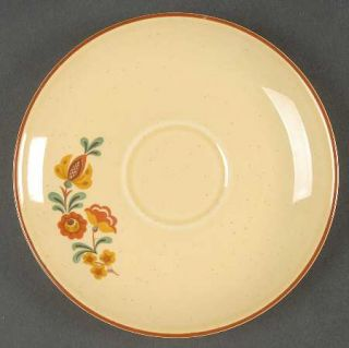 Taylor, Smith & T (TS&T) Reveille (Red Trim) Saucer for Flat Cup, Fine China Din
