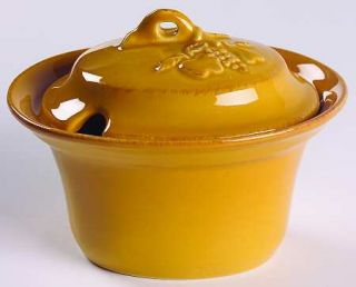 Casafina Madeira Harvest (Honey) Sugar Bowl & Lid, Fine China Dinnerware   Embos