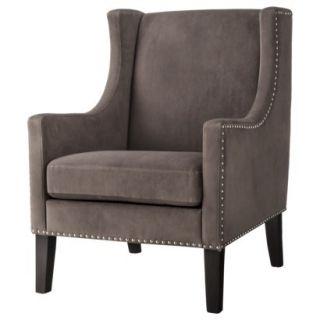 Skyline Upholstered Chair: Jackson Upholstered Wingback Chair   Gray velvet