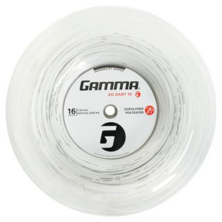 Gamma Zo Dart White 16G Tennis String Reel