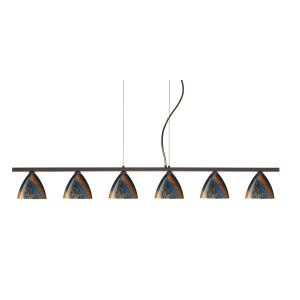 Besa Lighting BEL 6LP 1779CE BR Mia Island Light