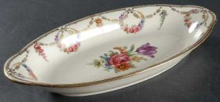 Schumann   Bavaria San Luis Rey (Ivory Background) Relish, Fine China Dinnerware