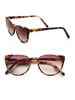 Linda Farrow Luxe Modified Plastic Cate Eye Sunglasses   Tortoise