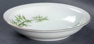 Hira China Tan Kay Rim Fruit/Dessert (Sauce) Bowl, Fine China Dinnerware   Green