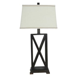 Crestview Collection Criss   Cross Table Lamp Multicolor   CVACR603