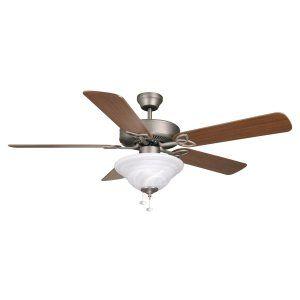 Ellington Fans ELF E BLD52AN5C1 Builder Deluxe 52 Ceiling Fan w/Alabaster Bowl