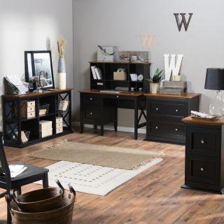 Hayneedle Belham Living Hampton Office Collection   Black/Oak   DONU047
