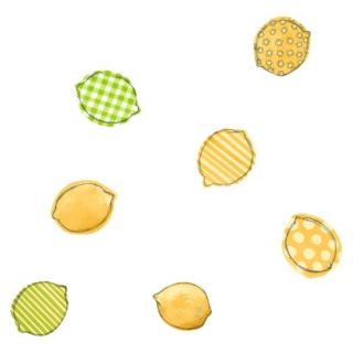 Lemons Wallpaper   White/Lemon/Lime