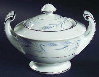 Harmony House China Diana Blue Sugar Bowl & Lid, Fine China Dinnerware   Blue Wh