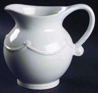 Juliska Ceramics Berry & Thread Whitewash 50 Oz Pitcher, Fine China Dinnerware