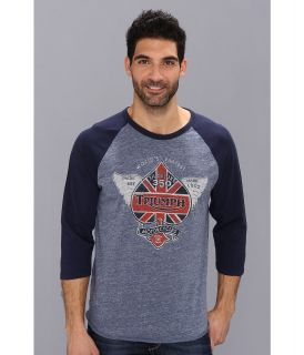Lucky Brand Triumph Spade Graphic Tee Mens Long Sleeve Pullover (Gray)
