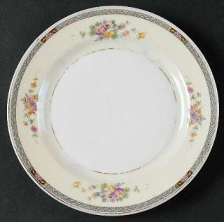 Heinrich   H&C Hc252 Bread & Butter Plate, Fine China Dinnerware   Floral Band &