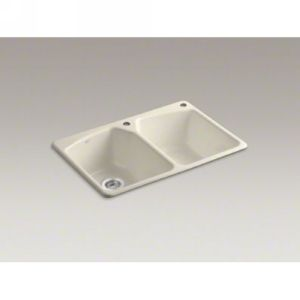 Kohler K 6491 2R 47 Tanager Tanager Self Rimming Kitchen Sink With 2 Hole Faucet