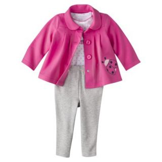 Just One YouMade by Carters Newborn Girls 3 Piece Cardigan Set   Gray 6 M