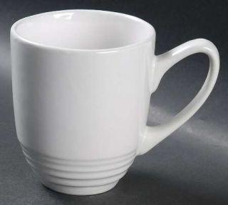 Laurie Gates Dekko Vintage White Mug, Fine China Dinnerware   All White, Embosse