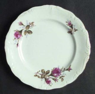 Royal Sealy Moss Rose Salad Plate, Fine China Dinnerware   White Background,Pink