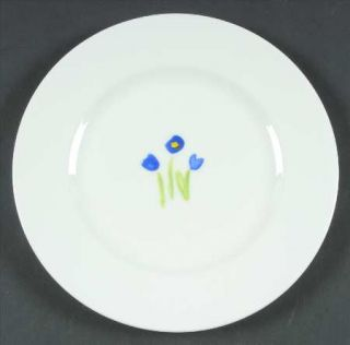 Crate & Barrel AnnaS Artistry Salad Plate, Fine China Dinnerware   Bone, Multic