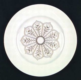 Royal Crown Derby Exeter Dinner Plate, Fine China Dinnerware   Gold Floral Cente