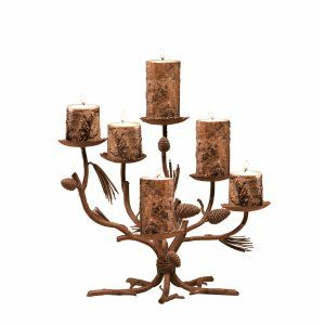 Kalco Lighting KAL CS15PD Ponderosa Centerpiece Candlestick