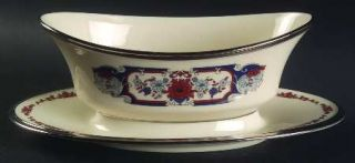Lenox China Interlude Gravy Boat with Attached Underplate, Fine China Dinnerware