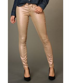 Lucky Brand Charlie Skinny Coated Sparkle Jean Womens Jeans (Gold)