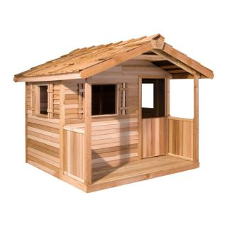 Cedarshed Industries Cedar Shed Log Cabin Cedar Playhouse Multicolor   PH66