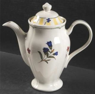Noritake Summer Estate (Ireland) Tea/Coffee Pot & Lid, Fine China Dinnerware   I