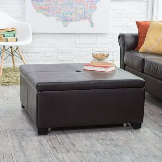 Belham Living Corbett Coffee Table Storage Ottoman   Square