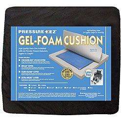 Hudson Pressure Eez Gel foam 20x18 Nylon Wheelchair Seat Cushion