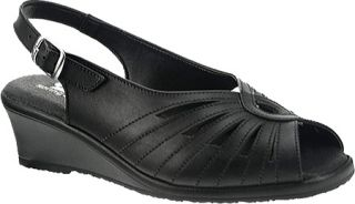 Womens Spring Step Gail   Black Leather Casual Shoes