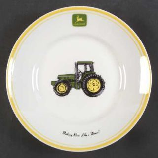 Gibson Designs John Deere (Tractor) Salad Plate, Fine China Dinnerware   Green&Y