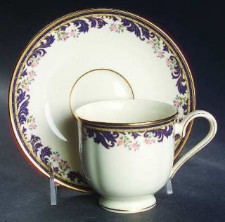 Lenox China Meadow Breeze Footed Cup & Saucer Set, Fine China Dinnerware   Ameri
