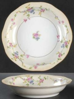 Baronet Juliet Rim Soup Bowl, Fine China Dinnerware   Multicolor Flowers & Swags