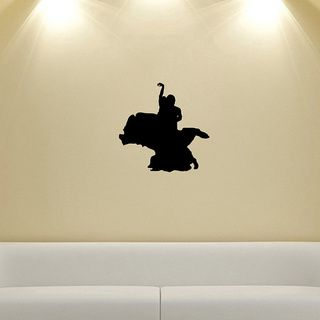 Couple Dancing Tango Silhouette Wall Vinyl Decal (Glossy blackDimensions 25 inches wide x 35 inches long )