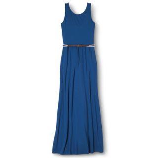 Merona Womens Maxi Dress w/Belt   Influential Blue   XS