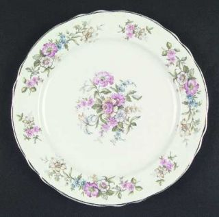 Edwin Knowles Isabella Dinner Plate, Fine China Dinnerware   Arcadia Shape, Flor