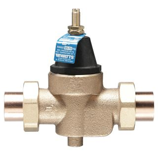 Watts 1 LFN45BM1DUS Valve, 1 Pressure Reducing NPT Sweat Female Inlet x NPT Female Outlet w/Stainer Lead Free