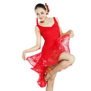 Dancewear Viscose And Lace Latin Dance Dress For Ladies(More Colors)
