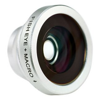 2 in 1 Macro Lens and 180 Degree Fish Eye Lens for iPhone 4/4S, iPad and Other Cellphone