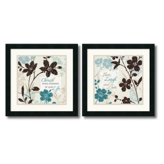 J and S Framing LLC Botanical Touch Quote Framed Wall Art   Set of 2   18W x