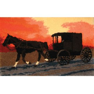 Latch Hook Kit 38 1/2x25 amish Buggy (VariousMaterials: Canvas, acrylicDimensions: Finished measurements: 38.5 inches wide x 25 inches longEach kit contains pre cut 100 percent acrylic yarn; 3.75 inch mesh Graph N Latch canvas; color chart and complete in