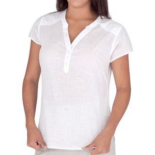 Royal Robbins Naja Embroidered Shirt   Short Sleeve (For Women)   WHITE (M )