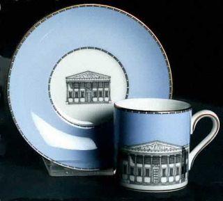 Wedgwood Grand Tour Bond Shape Demitasse Cup and Saucer Set, Fine China Dinnerwa