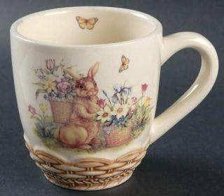 Cracker Barrel Easter Treasures Mug, Fine China Dinnerware   Easter Bunny,Flower