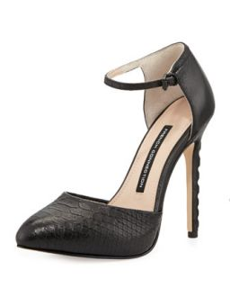 Catia Snake Print Leather Pump, Black
