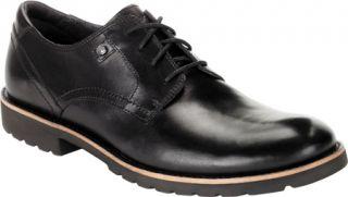 Mens Rockport Ledge Hill Plaintoe   Black Leather Casual Shoes